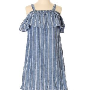 J. Crew casual striped chambray dress